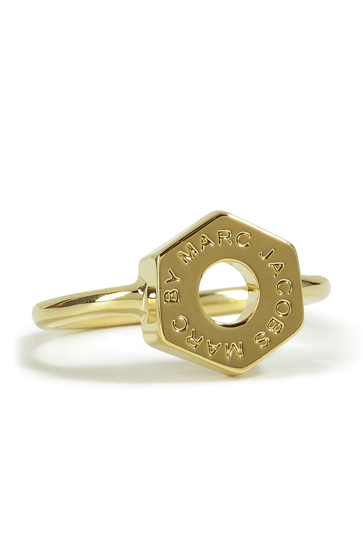 marc by marc golden tiny bolt ring in gold lyst