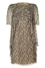 Matthew Williamson  Beaded Frill Silk Dress - Lyst