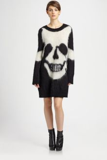 McQ by Alexander McQueen Skull Intarsia Sweater Dress - Lyst