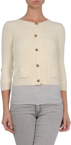 Red Valentino Cardigan in White (ivory) - Lyst
