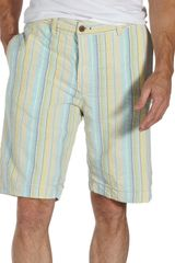 Tailor Vintage Beach Stripe Reversible Shorts - Lyst