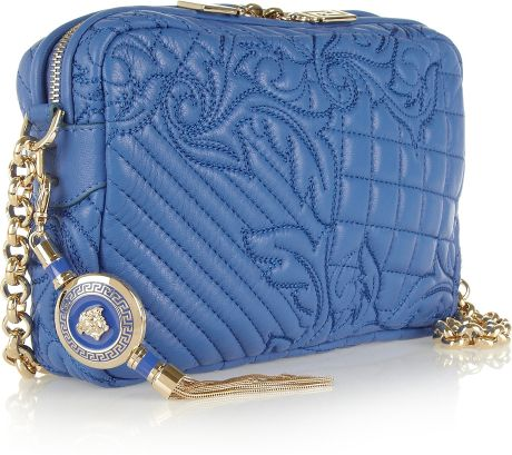 Versace Quilted Leather Shoulder Bag 2