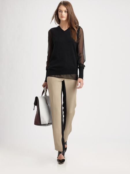 3.1 Phillip Lim Shadow Pencil Pants in Beige - Lyst