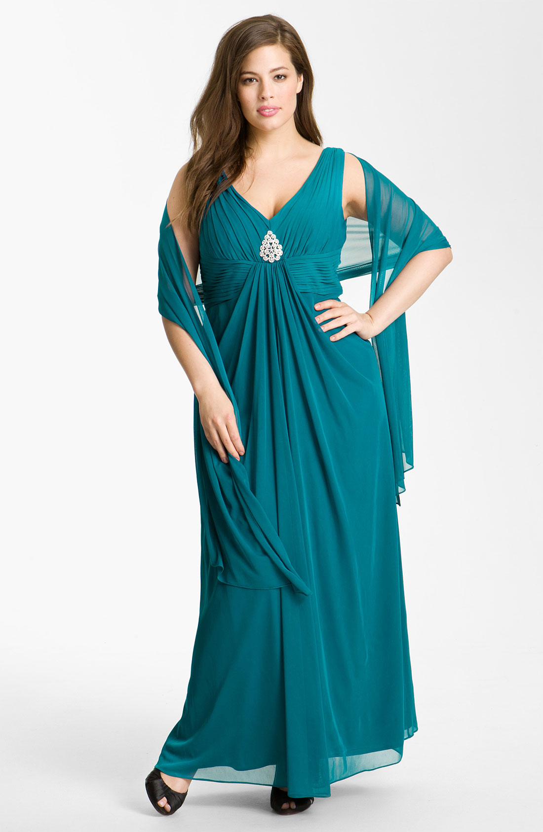 2b137136f4 Source https   www.lyst.co.uk clothing alex-evenings-pleated-mesh-gown-shawl -vintage-teal