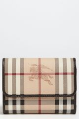 Burberry Haymarket Check Flap Wallet - Lyst