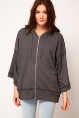 Cheap Monday Oversized Hoody in Gray (grey) - Lyst