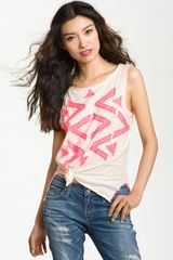 Free People Bermuda Triangle Applique Tank - Lyst