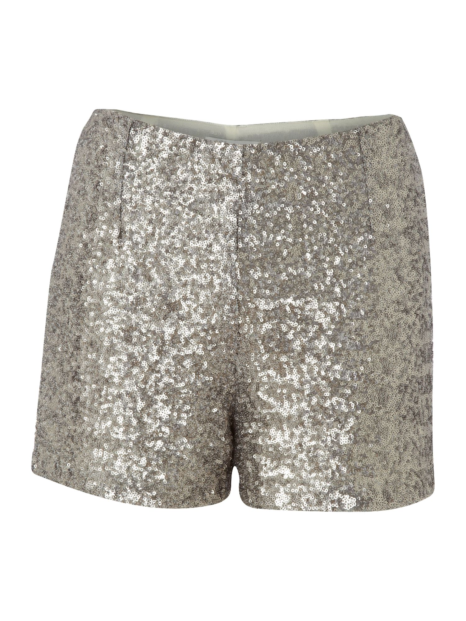 Glamorous All Over Sequin Shorts in Silver (silver ...