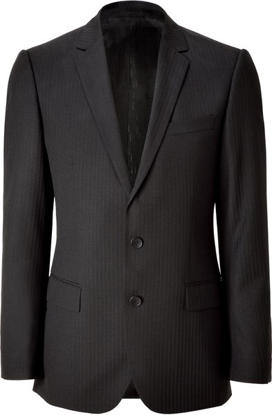 Hugo Black Striped Amaroheise Blazer in Black for Men - Lyst