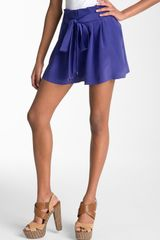 Juicy Couture Silk Shorts - Lyst