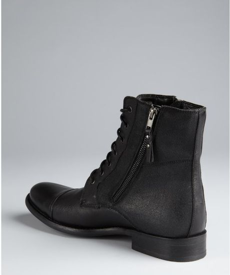 kenneth cole reaction black leather and canvas hit