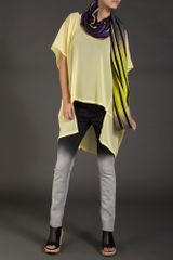 Label Lab Oversized Sheer Blouse in Yellow - Lyst