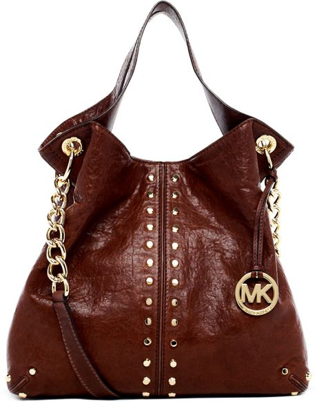 Michael By Michael Kors Uptown Astor Large Shoulder Tote Mocha in Brown (mocha) - Lyst