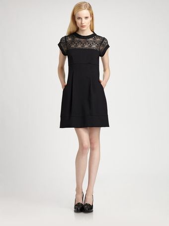 Nanette Lepore Shadow Lace Dress - Lyst