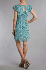 Pussycat Pussycat Rabbit Print Dress in Blue (aqua) - Lyst
