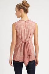 Red Valentino Lace Blouse in Pink (rose) - Lyst