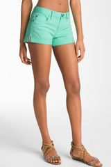 Sanctuary Perfect Fit Cuff Denim Shorts - Lyst