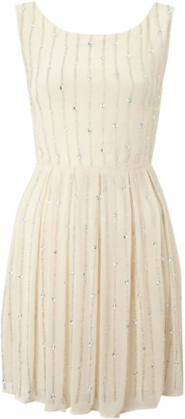 Tfnc Shift Dress with All Over Studs - Lyst