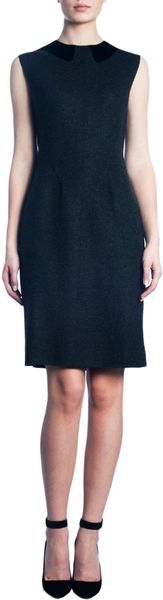 Thomas Maier Sleeveless Contrast Collar Dress - Lyst