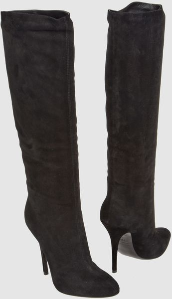 Balmain Highheeled Boots in Black - Lyst