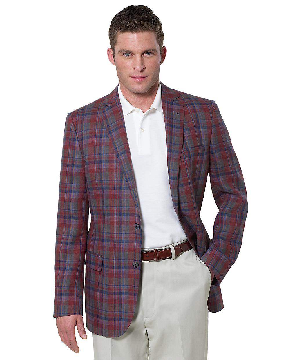 Brooks brothers Fitzgerald Fit Tartan Sport Coat in Red for Men | Lyst
