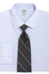 Brooks Brothers Supima Cotton Noniron Slim Fit Endonend Ground Stripe Dress Shirt - Lyst