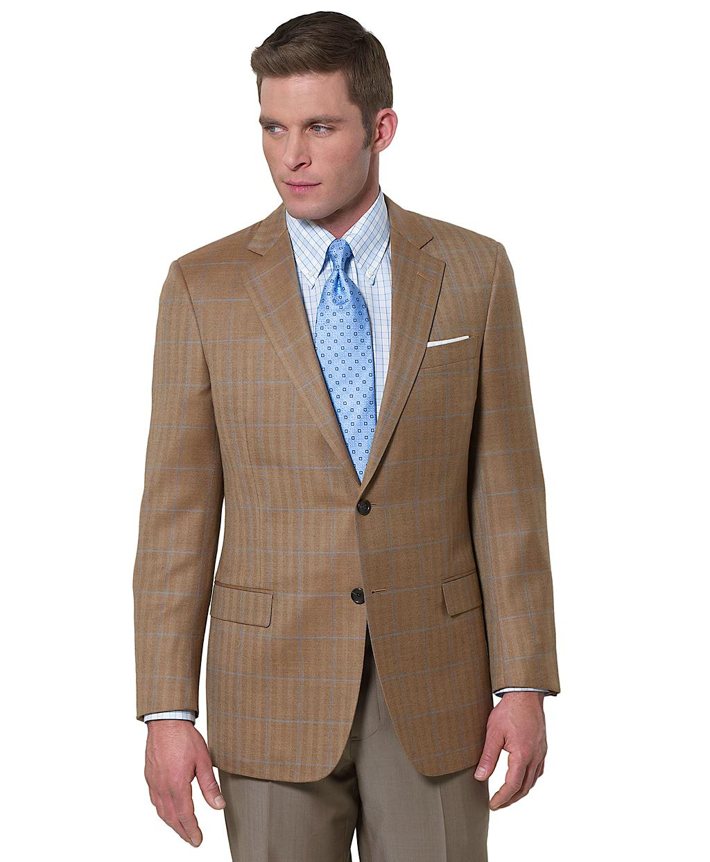 brooks brothers fitzgerald fit herringbone with deco sport coat in brown for men lyst. Black Bedroom Furniture Sets. Home Design Ideas