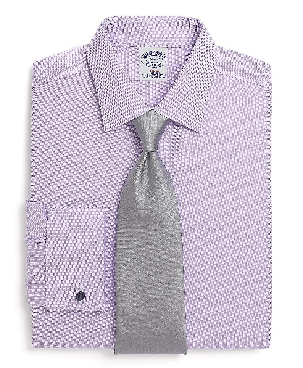 Brooks brothers allcotton noniron slim fit royal oxford for Royal purple mens dress shirts