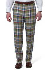 Brooks Brothers Madison Fit Plainfront Tartan Linen Trousers - Lyst
