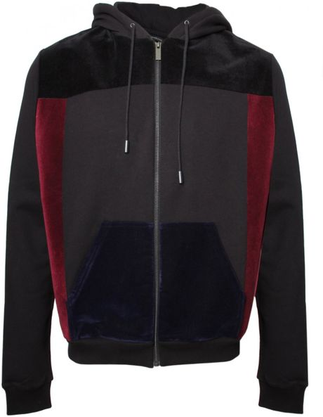 Christopher Kane Flock Panel Hoody Black in Black for Men - Lyst