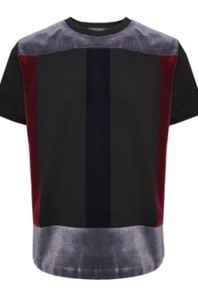 Christopher Kane Flock Panel T Shirt Black - Lyst
