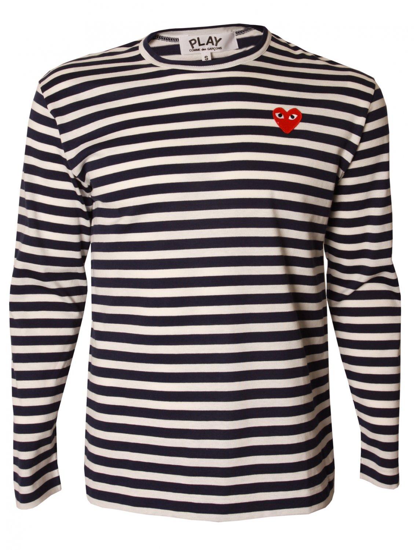 Play Comme Des Gar Ons Play Mens Classic Breton Stripe T