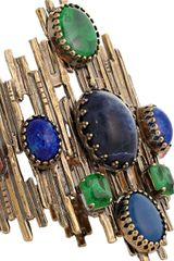 Emilio Pucci Multistone Cuff in Gold (multi) - Lyst