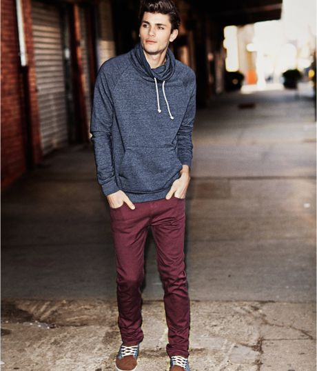 H Amp M Trousers In Red For Men Burgundy Lyst