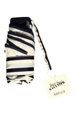 Jean Paul Gaultier Striped Folding Umbrella Creamnavy in Beige (cream) - Lyst