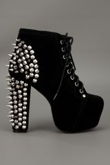 Jeffrey Campbell Spike Ankle Boot in Black - Lyst
