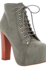Jeffrey Campbell Lace Up Ankle Boot - Lyst