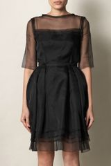 Lanvin Silk Organza Tulip Skirt Dress - Lyst