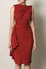 Lanvin Techno Crepe Drape Dress - Lyst