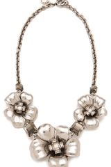Marc By Marc Jacobs Marc Flowers Short Flower Necklace in Silver (argento) - Lyst