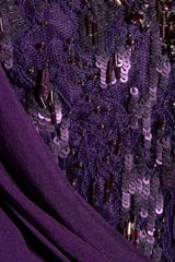 Matthew Williamson Embellished Lace and Draped Silk Chiffon Dress in Purple - Lyst