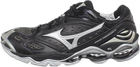 Mizuno Volleyball Shoes Black And Silver 6 Volleyball Shoe in Black