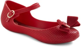 ModCloth So Cute Its A Crimson Flat - Lyst