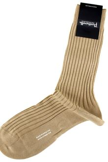 Pantherella Khaki Cotton Dress Sock - Lyst