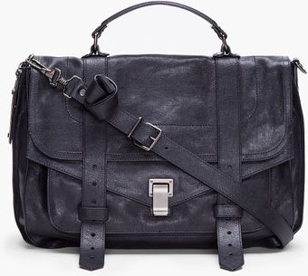 Proenza Schouler Ps1 Large Black Satchel - Lyst
