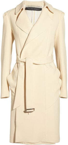 Roland Mouret Textured Wool and Silk Coat - Lyst