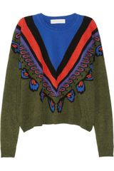 Stella McCartney Intarsia Wool Sweater - Lyst