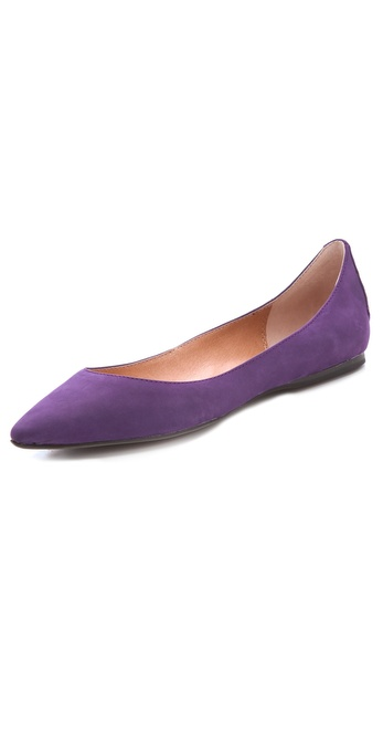 9c5445de5b5 Steven By Steve Madden Eternnal Pointed Toe Flats in Purple - Lyst