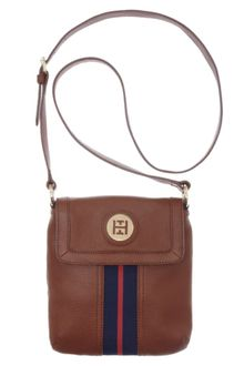 Tommy Hilfiger Pebble Leather Logo Crossbody - Lyst