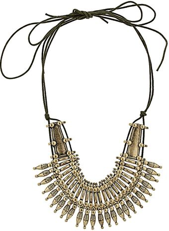 Topshop Warrior Thong Necklace - Lyst